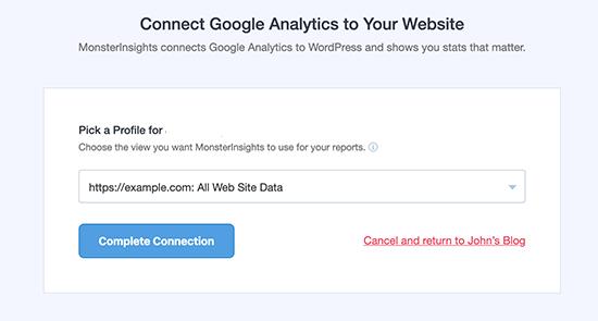 monsterinsights google analytics plugin klaar