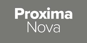 proxima nova - lettertypes voor een minimalistisch logo ontwerp
