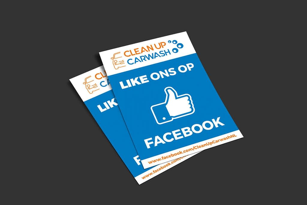 Promotiemateriaal ontwerp - Facebook flyer - Clean Up Carwash