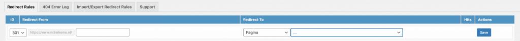 301 redirects instellen met WordPress plugin 301 Redirects
