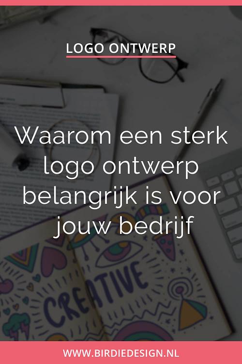 Waarom een logo ontwerp belangrijk is voor jouw bedrijf - pinterest afbeelding