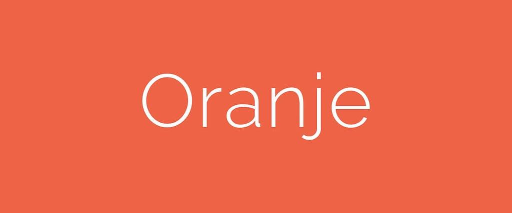 De betekenis van kleuren: oranje