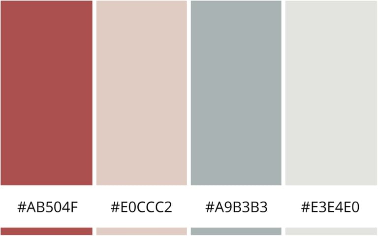 romantisch kleurenschema branding - kleurinspiratie voor je website