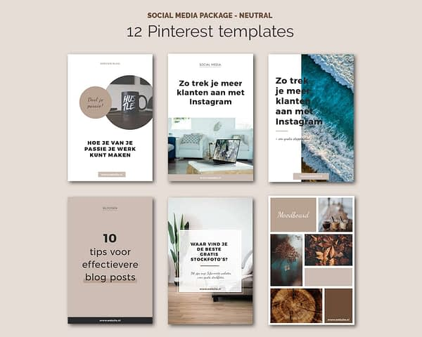 Pinterest Pin afbeeldingen templates - social media package
