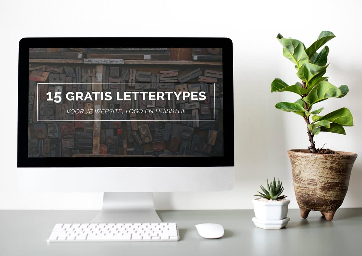 Top 15 gratis lettertypes