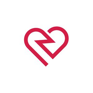 Hart logo modern ontwerp