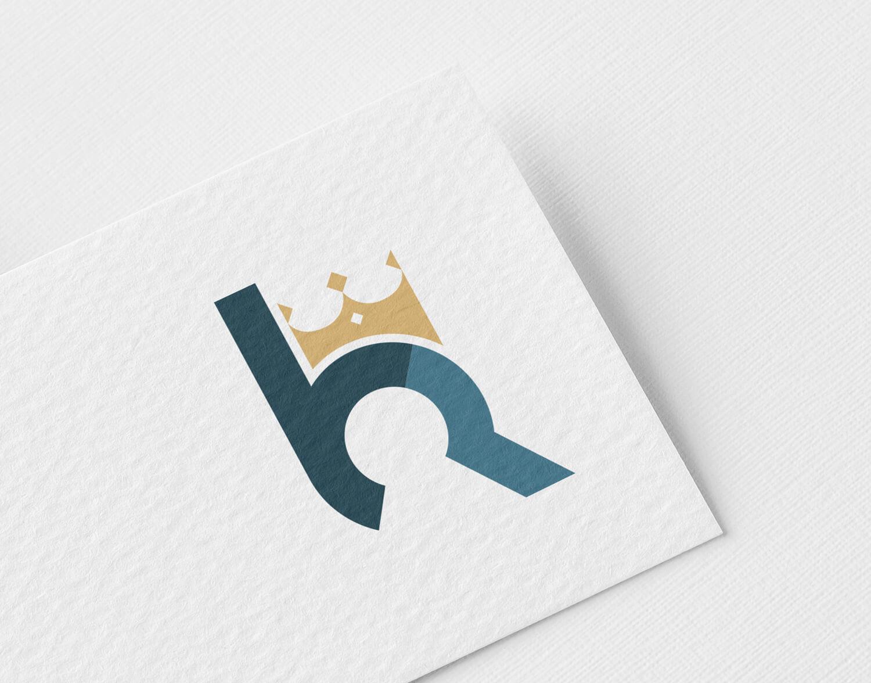 Clean en modern makelaar logo met sleutelgat