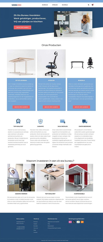 Wordpress Webshop gericht op ergonomisch kantoor