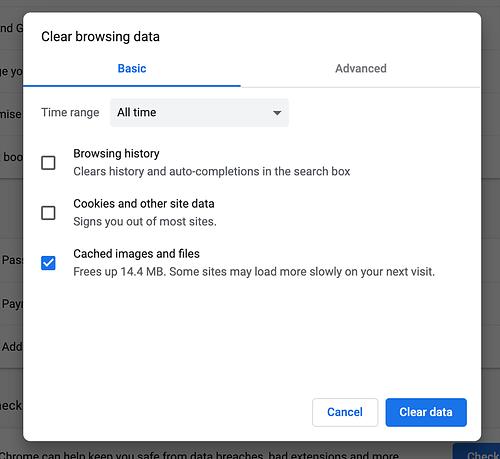 browser cache legen