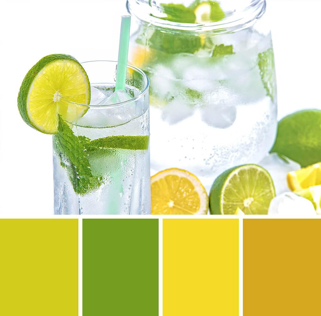 kleureninspiratie: drankje met citrusvruchten