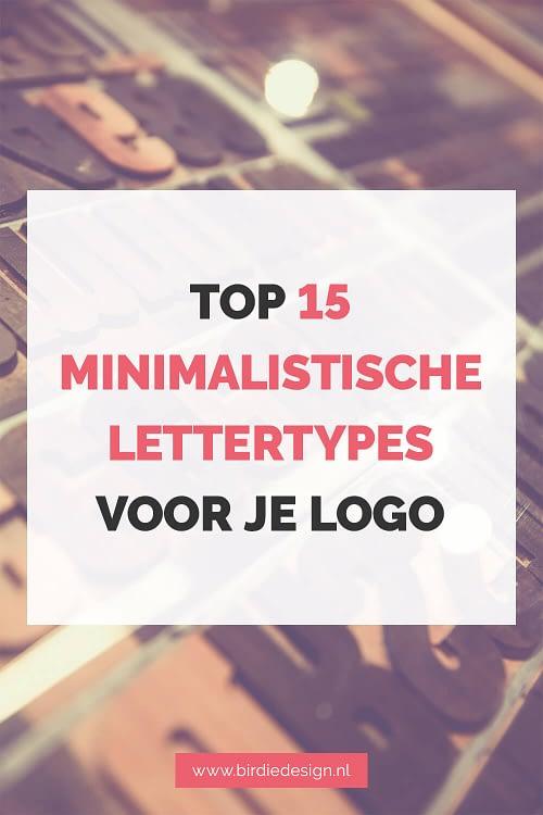 top 15 lettertypes voor een minimalistisch logo pinterest share afbeelding