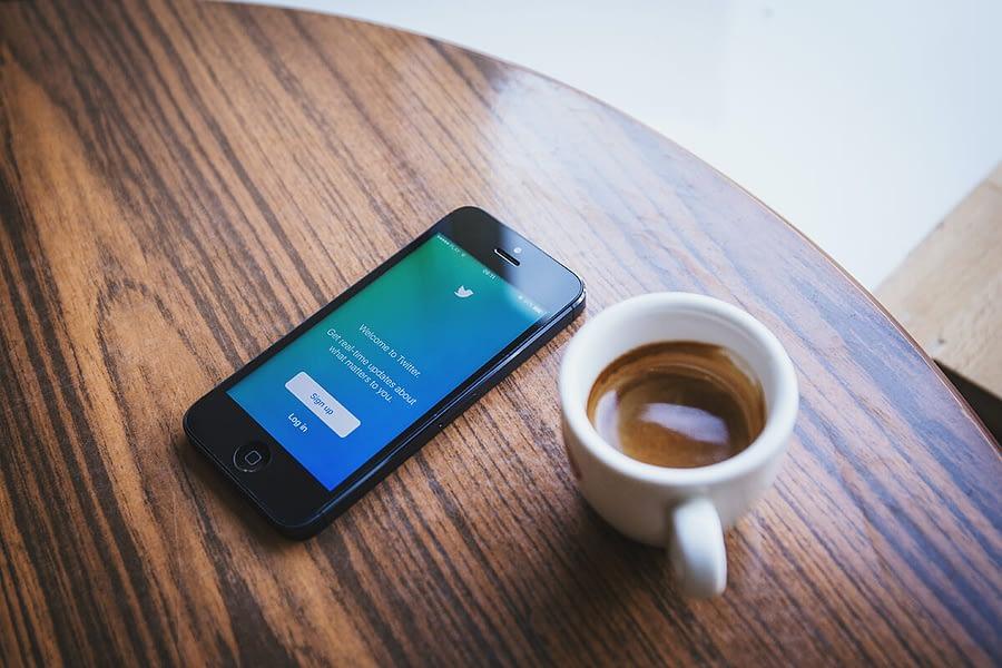 twitter logo met merkherkenning