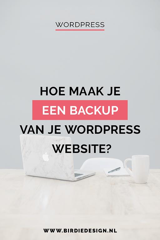 backup maken van je wordpress site