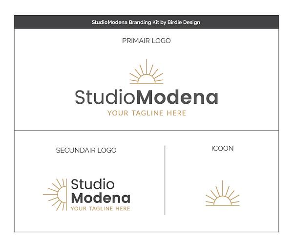 modern logo en huisstijl ontwerp - koop branding kit