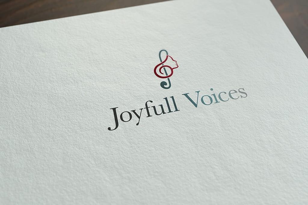 Joyfull Voices - Muzikaal Logo ontwerp