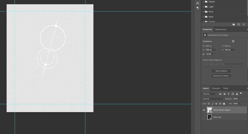 design in mockup plaatsen