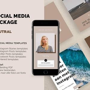 social media package - 60 social media templates