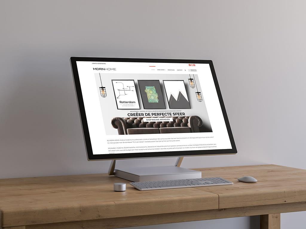 Oude wanddecoratie webshop voor redesign