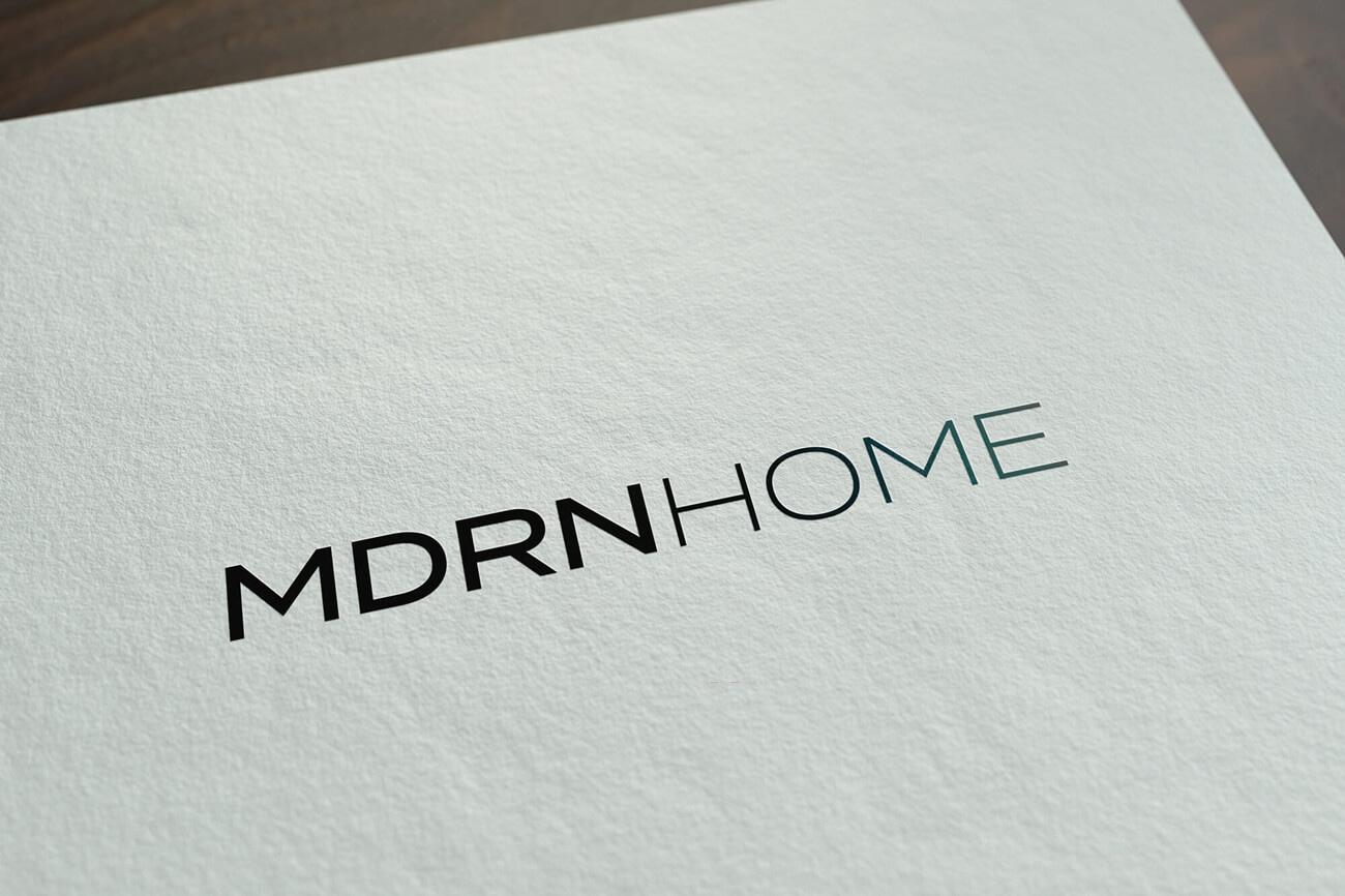 MDRN HOME - Logo design drukwerk papier