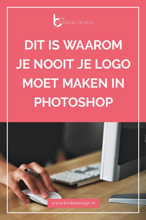 Waarom je nooit je logo moet maken in Photoshop Pinterest afbeelding