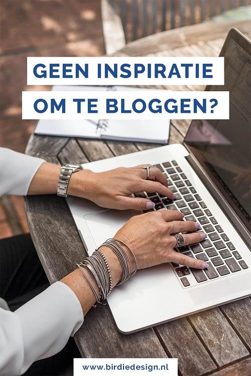 Geen inspiratie om te bloggen - 6 tips voor meer blog ideeen pinterest afbeelding