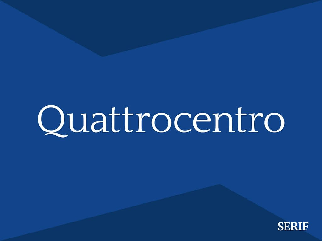 quattrocentro serif font