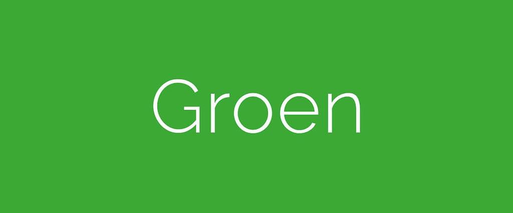 De betekenis van de kleur groen