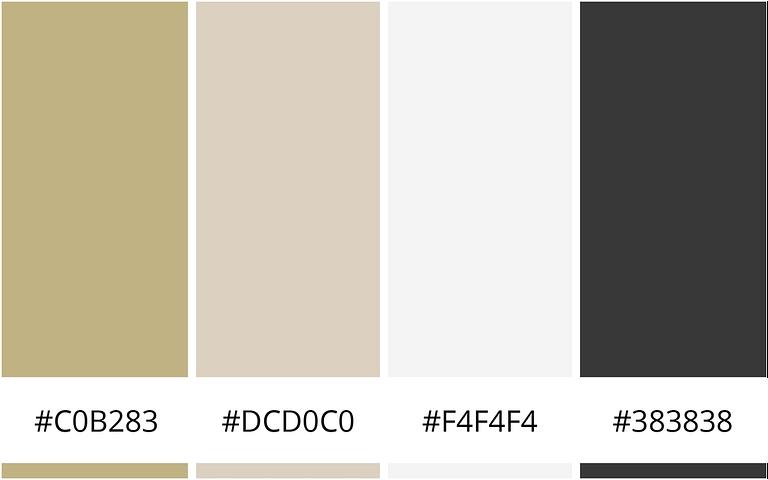 Muted Gold - 10 minimalistische kleurenschema's voor je website