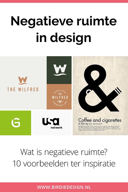 negatieve ruimte in design pinterest afbeelding