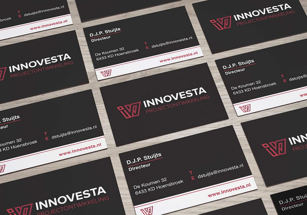 visitekaartje ontwerp projectontwikkelaar innovesta