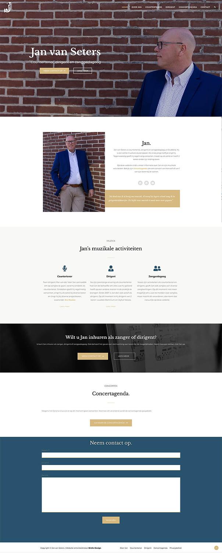 website ontwerp voor countertenor dirigent en zangpedagoog