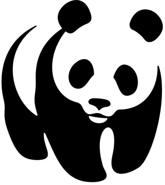 WNF negatieve ruimte in logo design voorbeeld