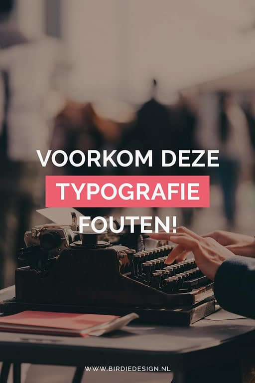 typografie fouten