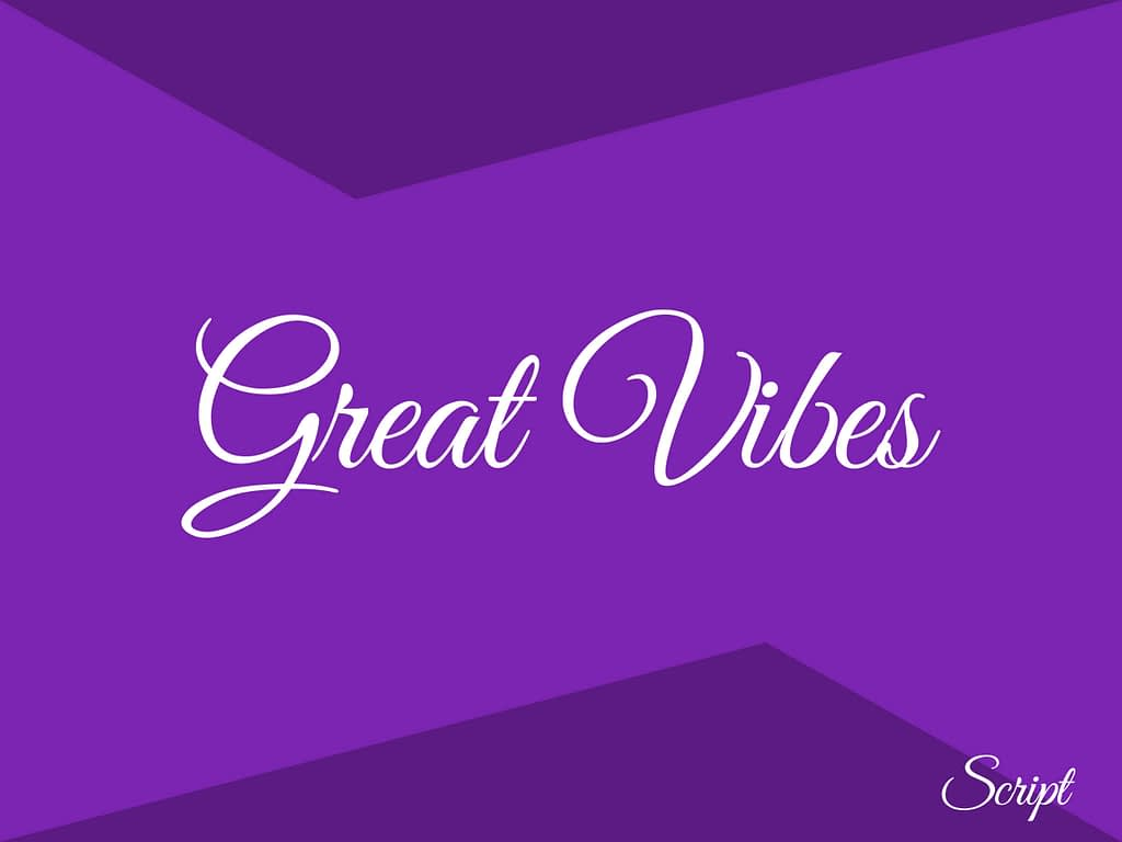 great vibes gratis fonts