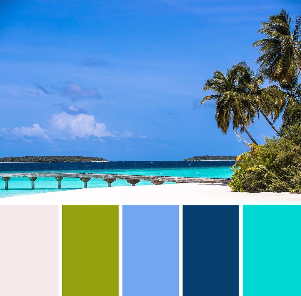 kleurinspiratie: strand