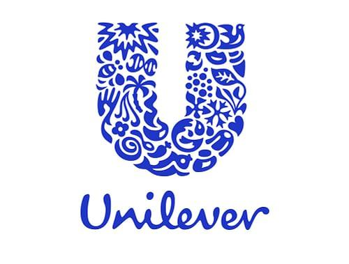 unilever logo met de kleur blauw