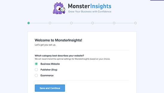MonsterInsights WordPress plugin instellen
