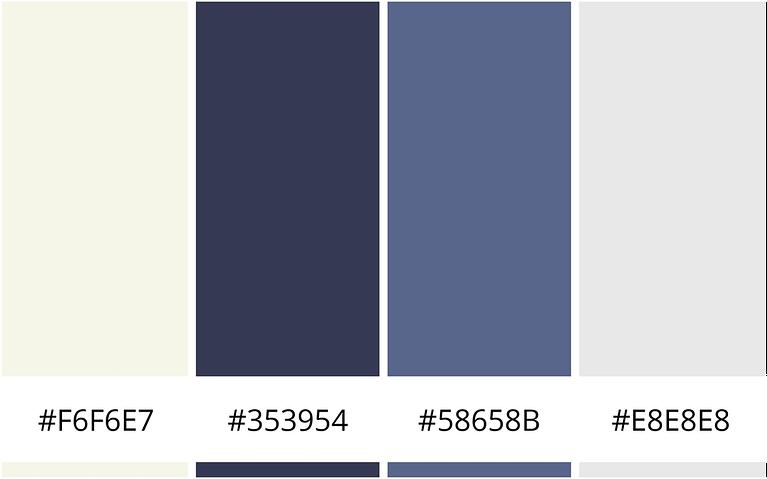 zakelijk en fris minimalistisch kleurenschema