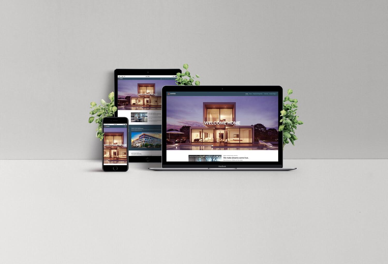 Makelaar Website Design Bootstrap - Birdie Design
