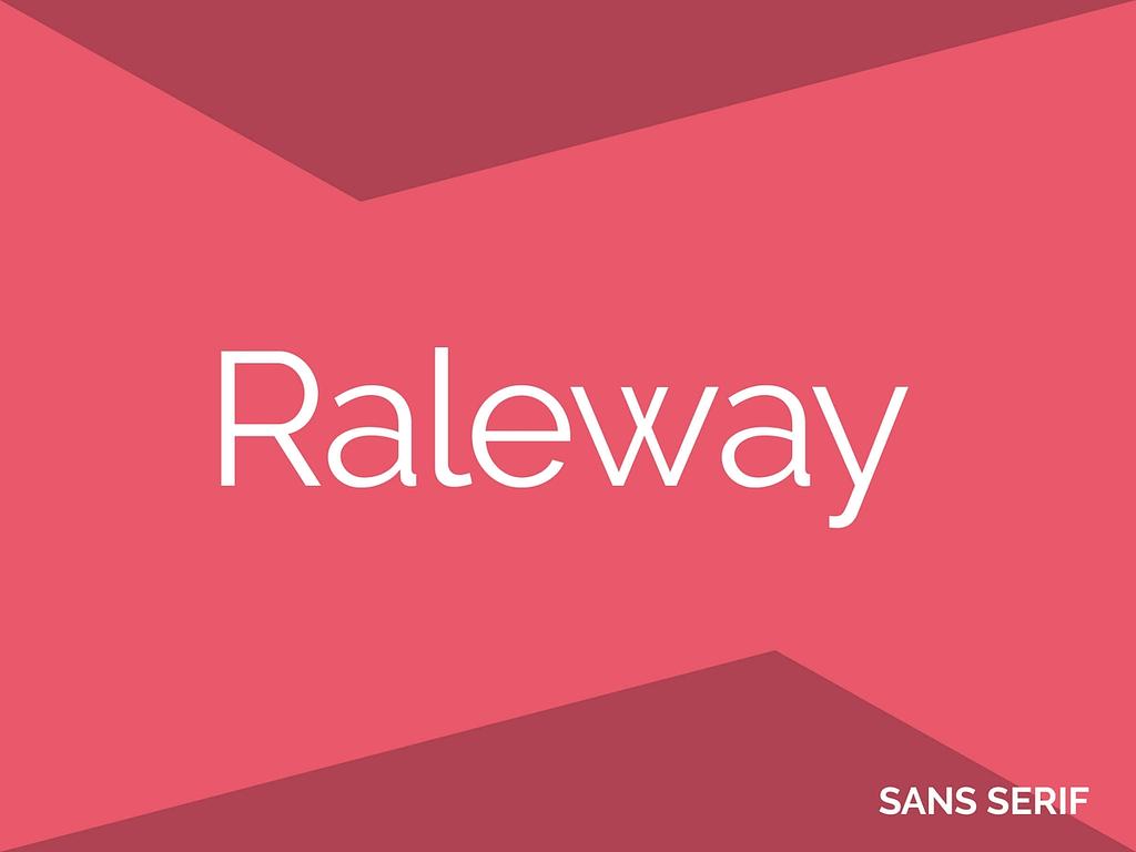 Raleway gratis lettertype