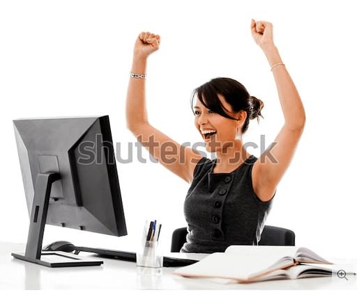 Hoe kies je goede foto's voor je website: cliche stockfoto