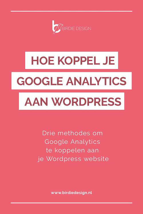 Google Analytics koppelen pinterest afbeelding