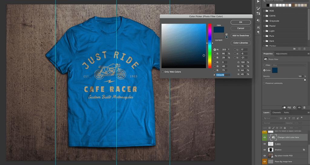 T-shirt kleur veranderen in Photoshop