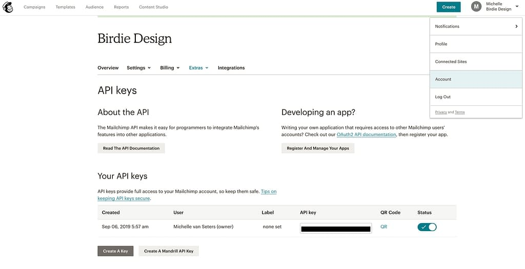 Je account koppelen aan je WordPress website - Zet een e-mailcampagne op met MailChimp