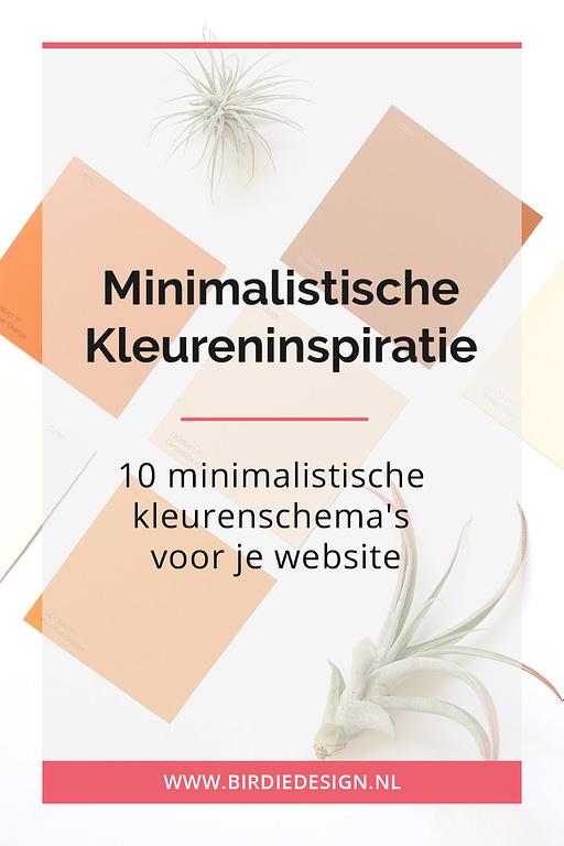 Kleureninspiratie Pinterest - 10 minimalistische kleurenschemas voor je website