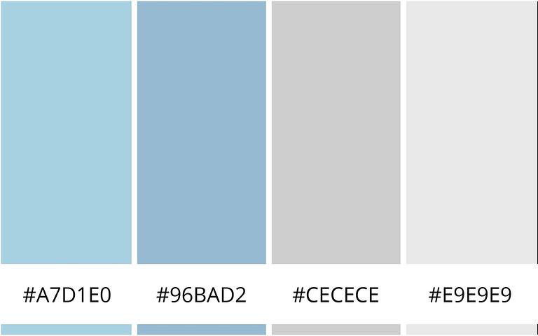 Helder en Clean kleurencombinatie - 10 minimalistische kleurenschema's voor je website