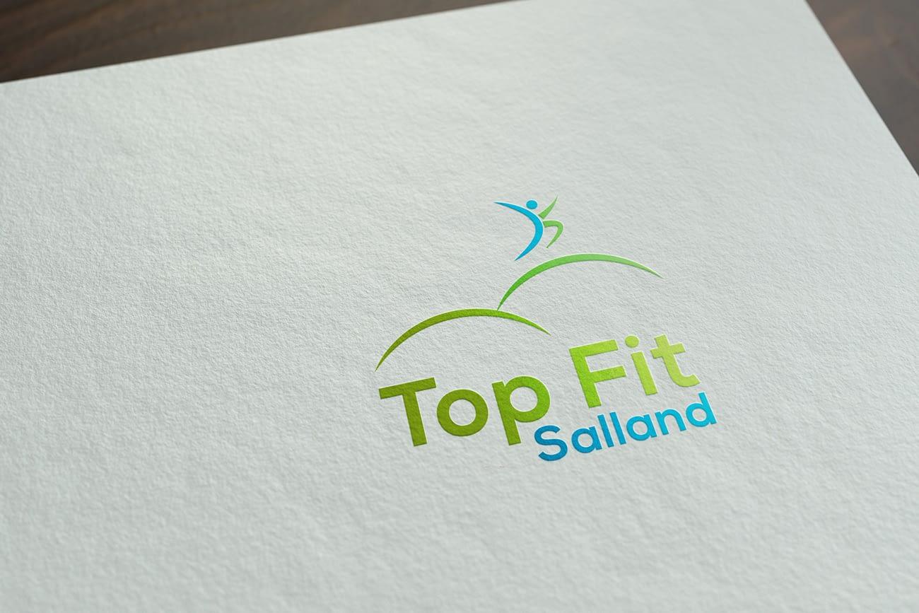 Top Fit Salland - Logo ontwerp gedrukt op papier