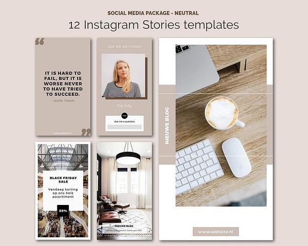 Social Media Instagram Stories sjablonen