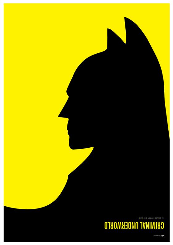 batman poster met negatieve ruimte