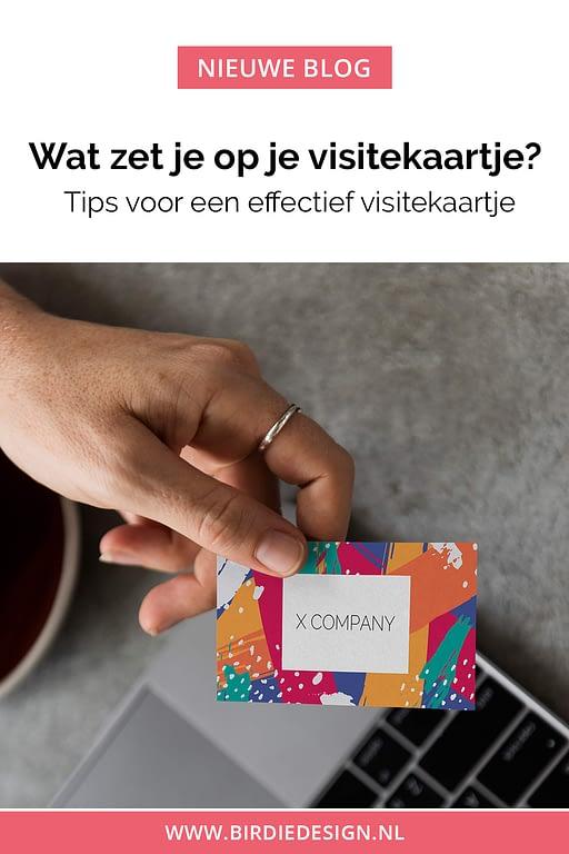 Wat zet je op je visitekaartje? Pinterest Pin
